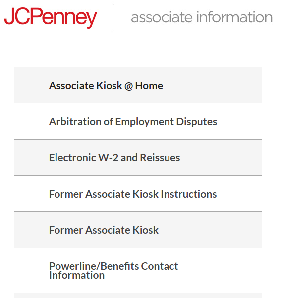 JCPenney Associate Kiosk Login
