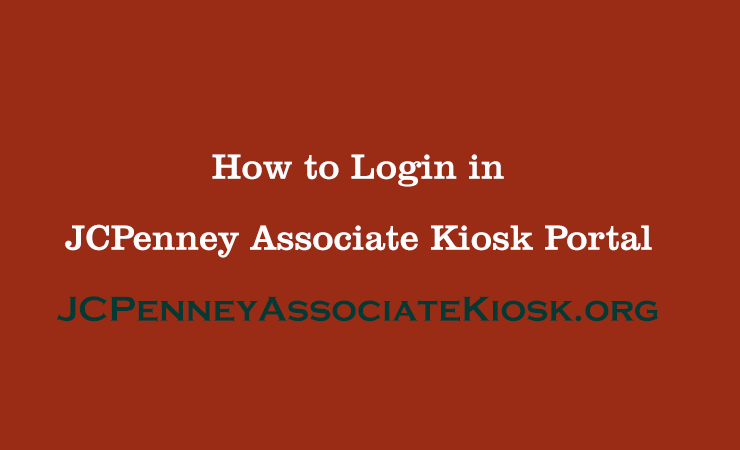 JCPenney Associate Kiosk Login